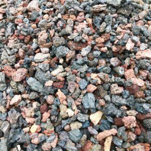 Red & Black decorative volcano stones 2.5L